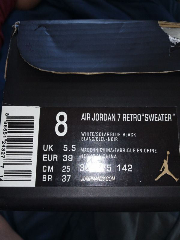 43c3028d068d8b Air Jordan 7 retro (sweater) for Sale in Pembroke Park