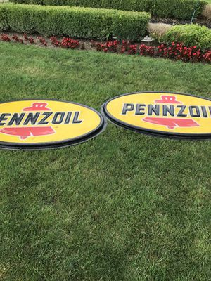 Pennzoil sign 100 dollars a piece for Sale in Detroit, MI