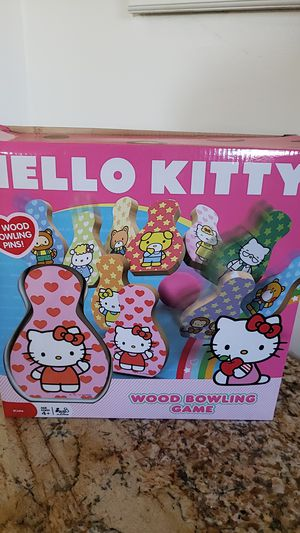Hello kitty wood bowling game for Sale in Temple City, CA