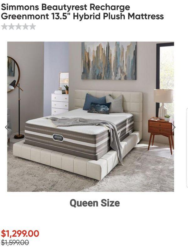 Simmons Beautyrest Recharge Greenmont 13 5 Quot Hybrid Queen