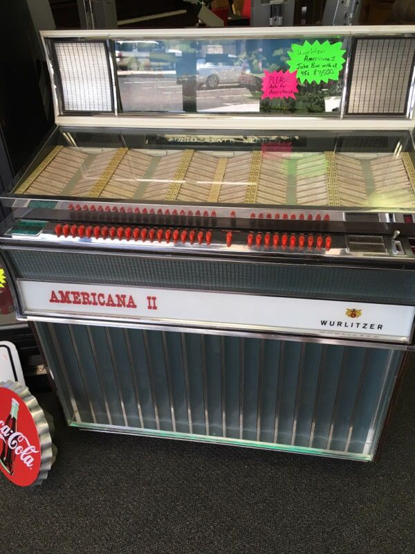 1968 Wurlitzer Americana Ii Jukebox With 45s For Sale In