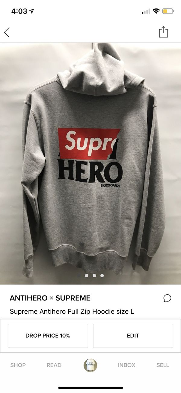 8d3c495ec0c5 Supreme x Anti-Hero zip up hoodie size large for Sale in Orlando