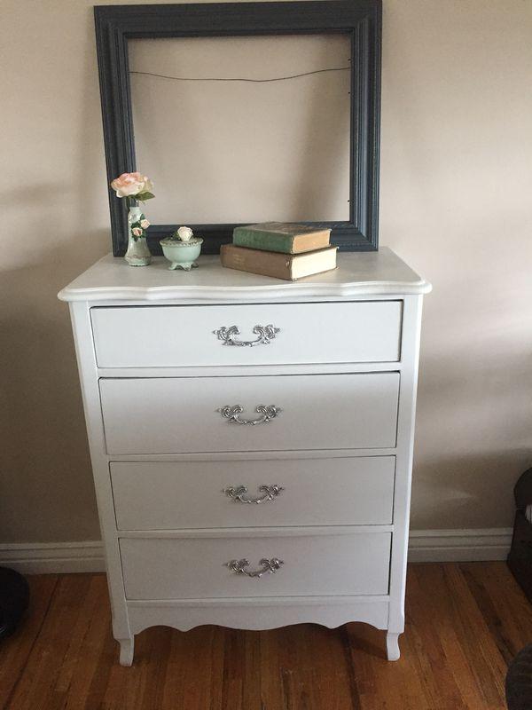 Refinished French Provincial Vintage Solid Wood Dresser For Sale In