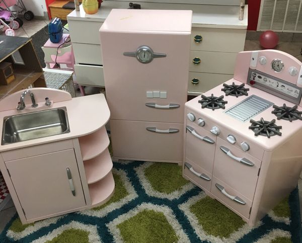 Pottery Barn Kids Vintage Kitchen Play Set In Pink For