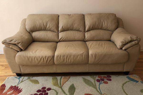 beige leather sofa. Beige Leather Sofa E