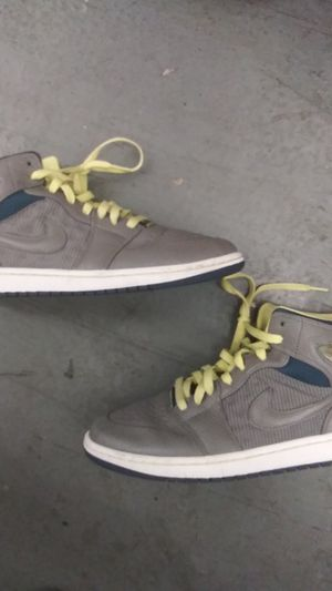 b9c6cb61bb524 Air Jordan 1 grey and neon green for Sale in Costa Mesa