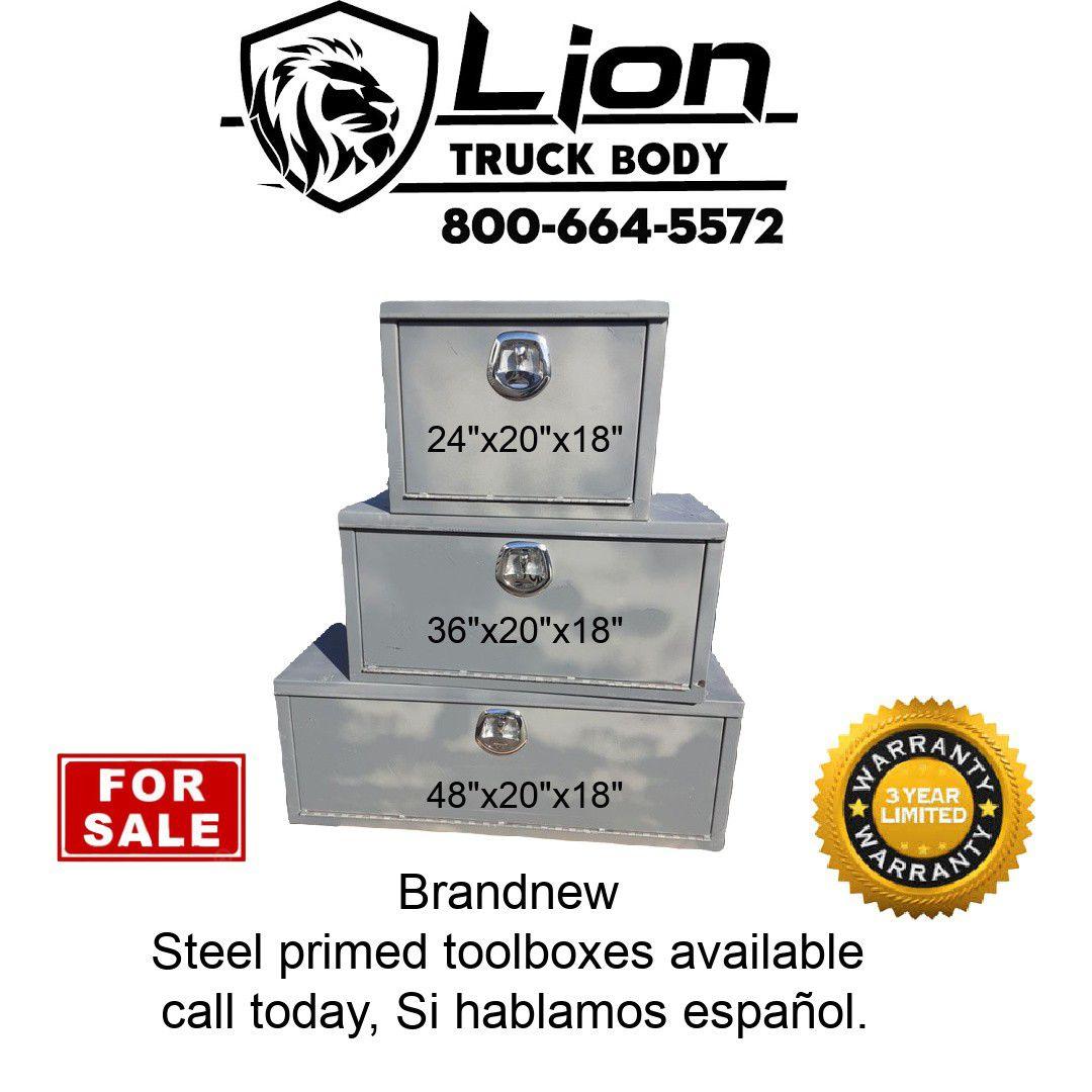 Brandnew primed steel toolboxes