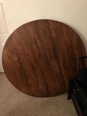 Nice solid wood table and stand for Sale in Alexandria, VA