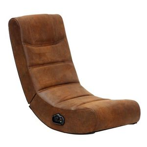 2.0 Audio X Rocker Gaming Chair in Distressed Brown Suede for Sale in Houston, TX