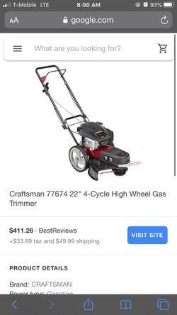 Craftsman 4- Cycle High Wheel Gas Trimmer Thumbnail