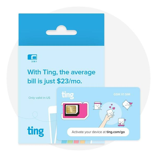 ting gsm sim card  u2013 average monthly bill is  23  no