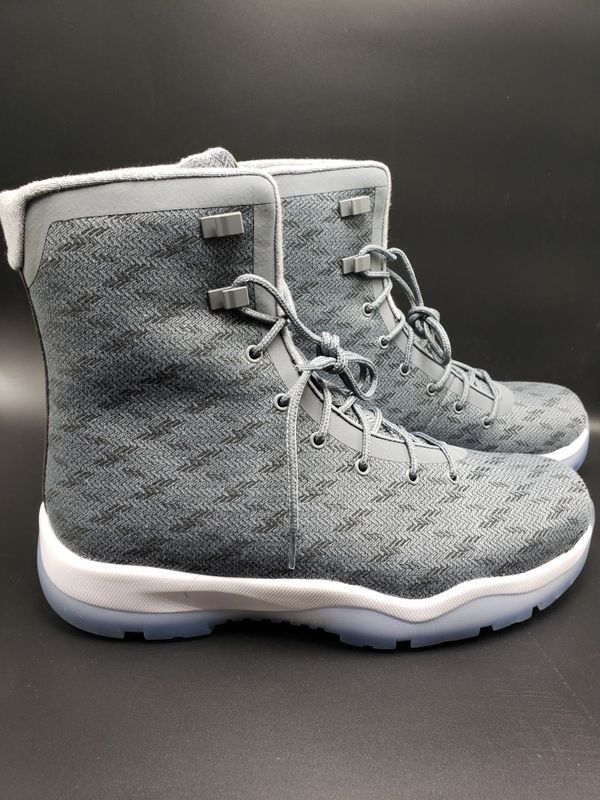 online store 9325c 45bc0 Nike Air Jordan Future Boot Cool Grey White Clear Sole SZ 11.5 (854554-003)