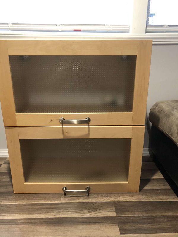 IKEA Wooden/Glass Cabinets for Sale in Everett, WA - OfferUp