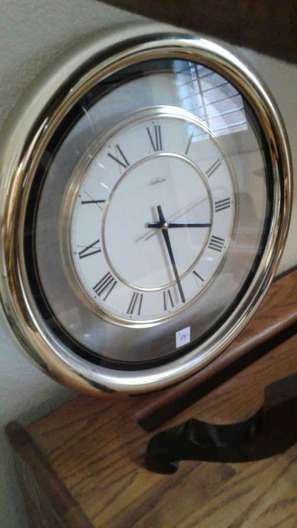 Sunbeam Round Gold Wall Clock Roman Numerals