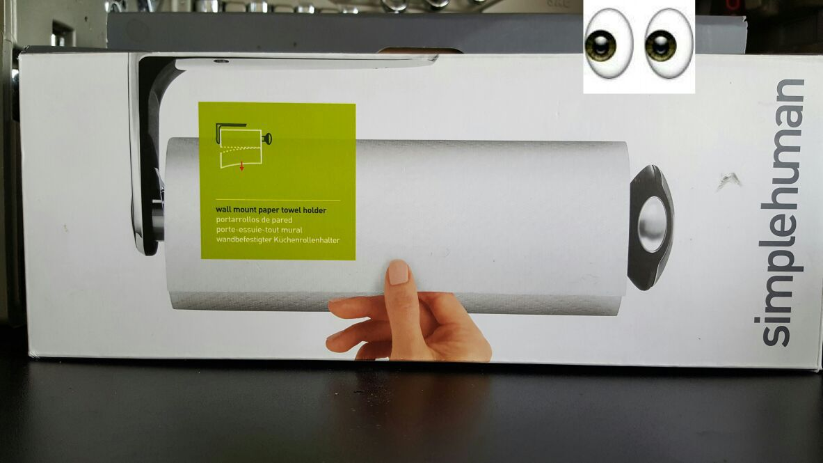 Simple human paper towel dispenser holder