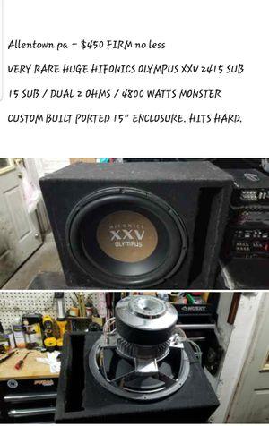 Photo Hifonics olympus 15 sub in custom box 5000 watts