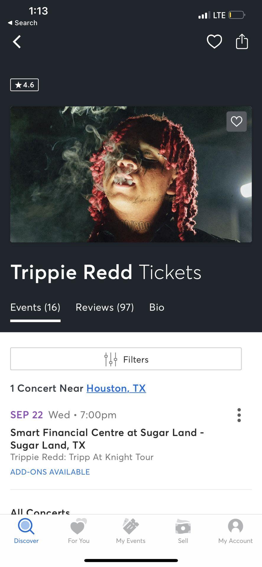 GA Trippie Redd Tickets (2)