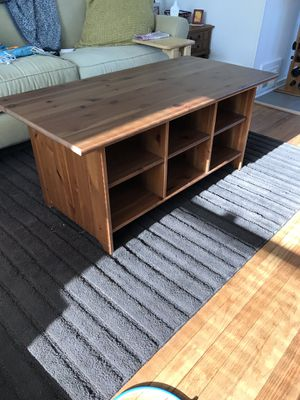 IKEA coffee table with cubbies for Sale in Alexandria, VA