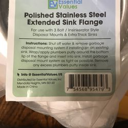 SS Sink Flange For Thicker Sink Thumbnail