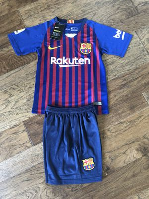 89a242592b9 Youth set Barcelona set jersey and short 18-19 for Sale in Plano