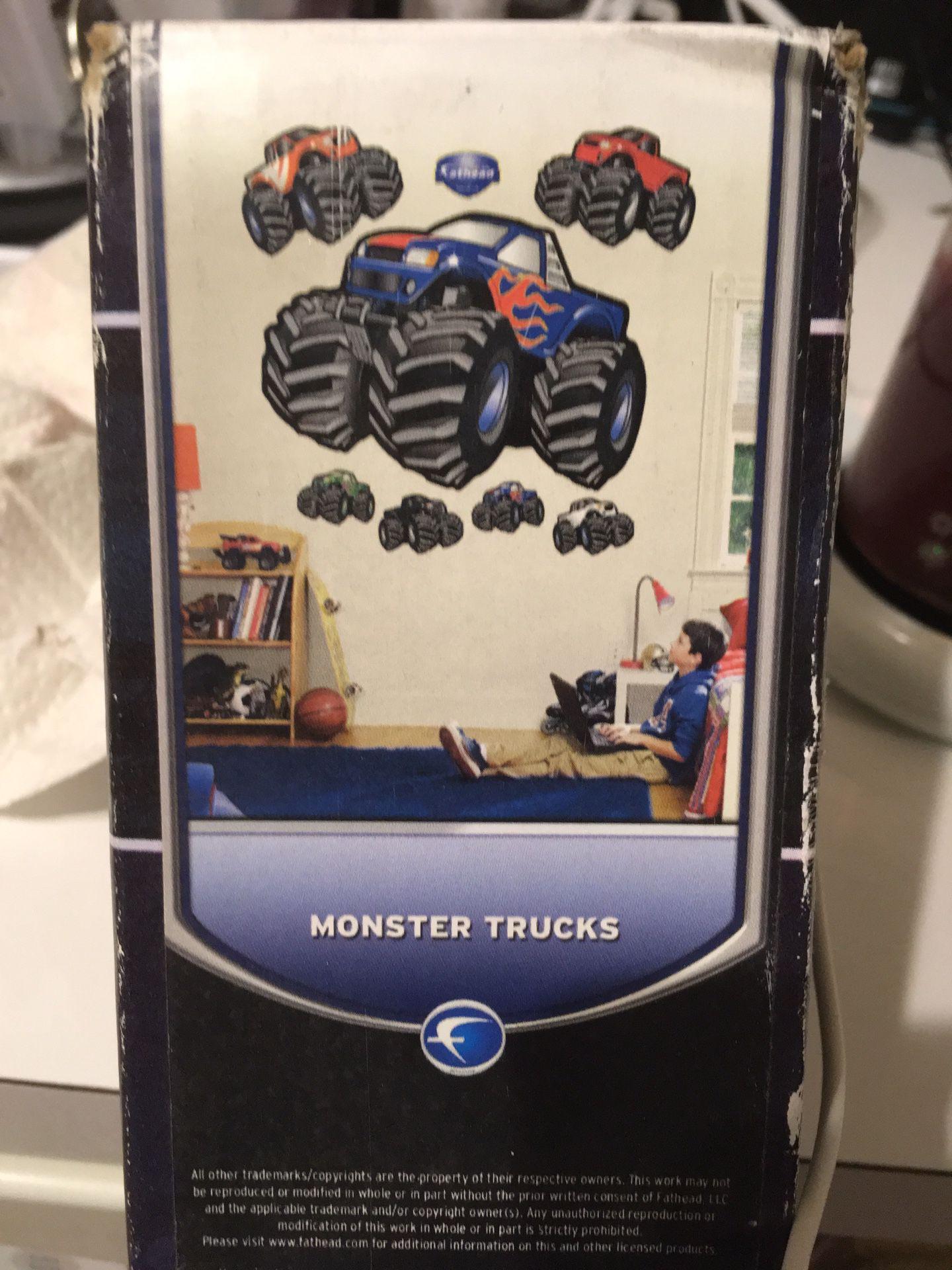 Monster Trucks-Vinyl Graphic for Bedroom walls