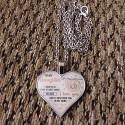 """SILVER PLATED """"TO MY DAUGHTER"""" NECKLACE. PICKUP NORTHEAST PHILLY Thumbnail"""
