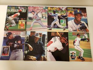 Group of 8 Beckett Baseball Card Monthly Magazines 1987-1992 - $30 All or $7 Each for Sale in Santa Rosa, CA