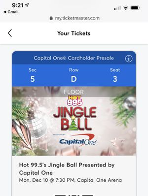 Jingle Ball Hot 99.5 3 floor tickets for Sale in Sterling, VA