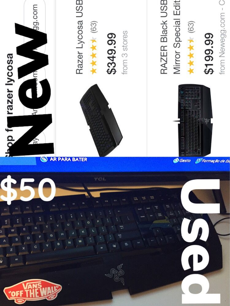 Razer keyboard mechanic USED!!