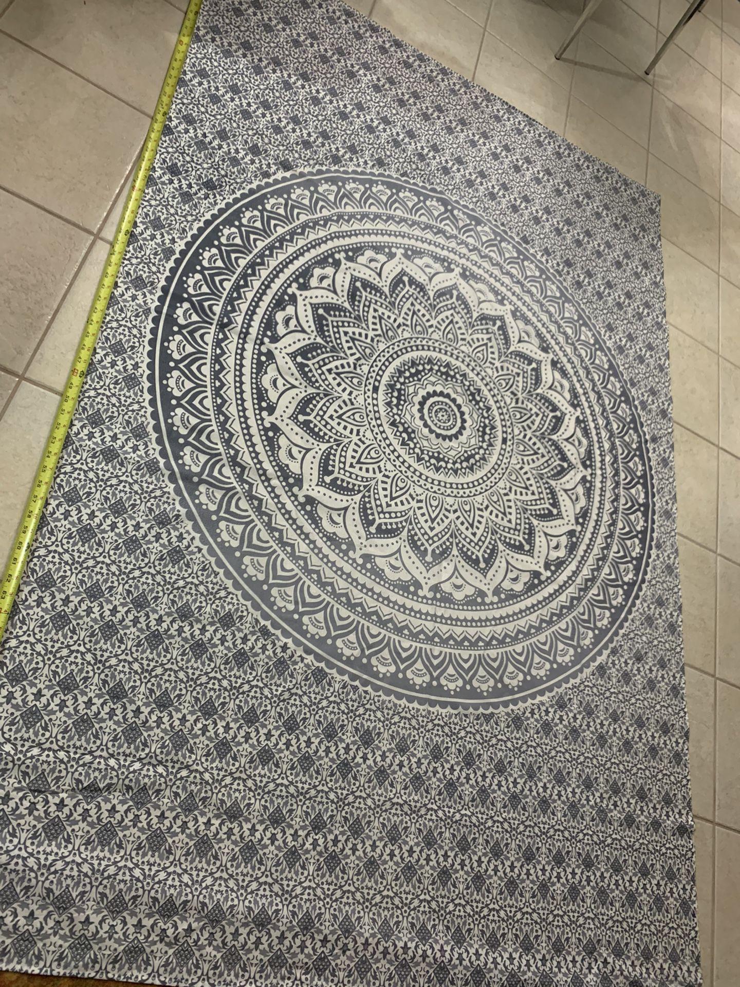 Gray & White Tapestry
