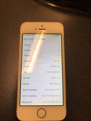 Apple IPhone 5s 64GB gold AT&T for Sale in Rockville, MD
