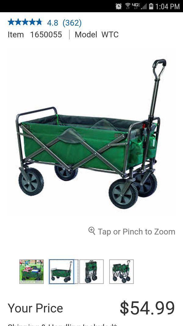 Mac Sports Folding Utility Wagon Forest Green