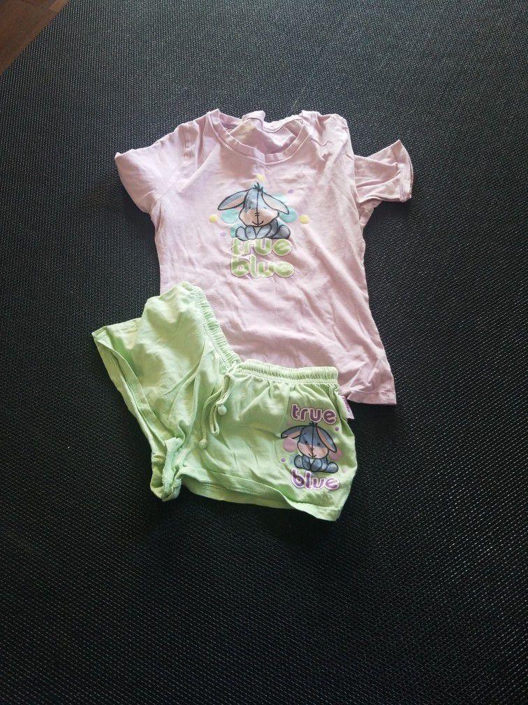 Disney Cuties Eyore Women's Pajama Set XS