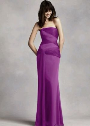 Vera Wang White collection formal (charcoal color) bridesmaid dress ...