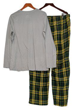 NFL Women's Pajama Set Sz XL Long Sleeve Top Flannel Pants Gray A387687 Thumbnail