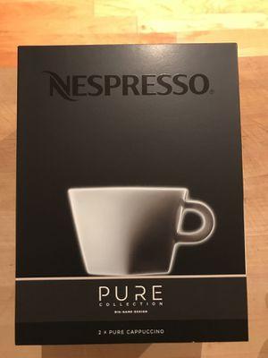 Nespresso Pure Cappuccino set of 2 mugs for Sale in Washington, DC