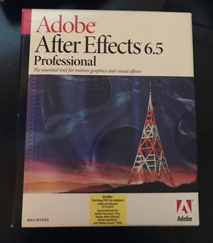 Adobe After Effects 6.5 software. for Sale in New York, NY