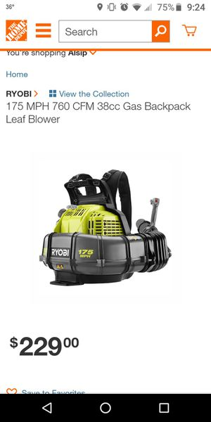 Photo Ryobi backpack blowers... Multiple available, various conditions starting at $60