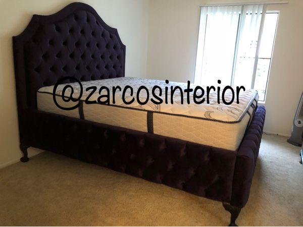 Custom Made Bed Frames Usa Alder Wood Furniture In Huntington Park