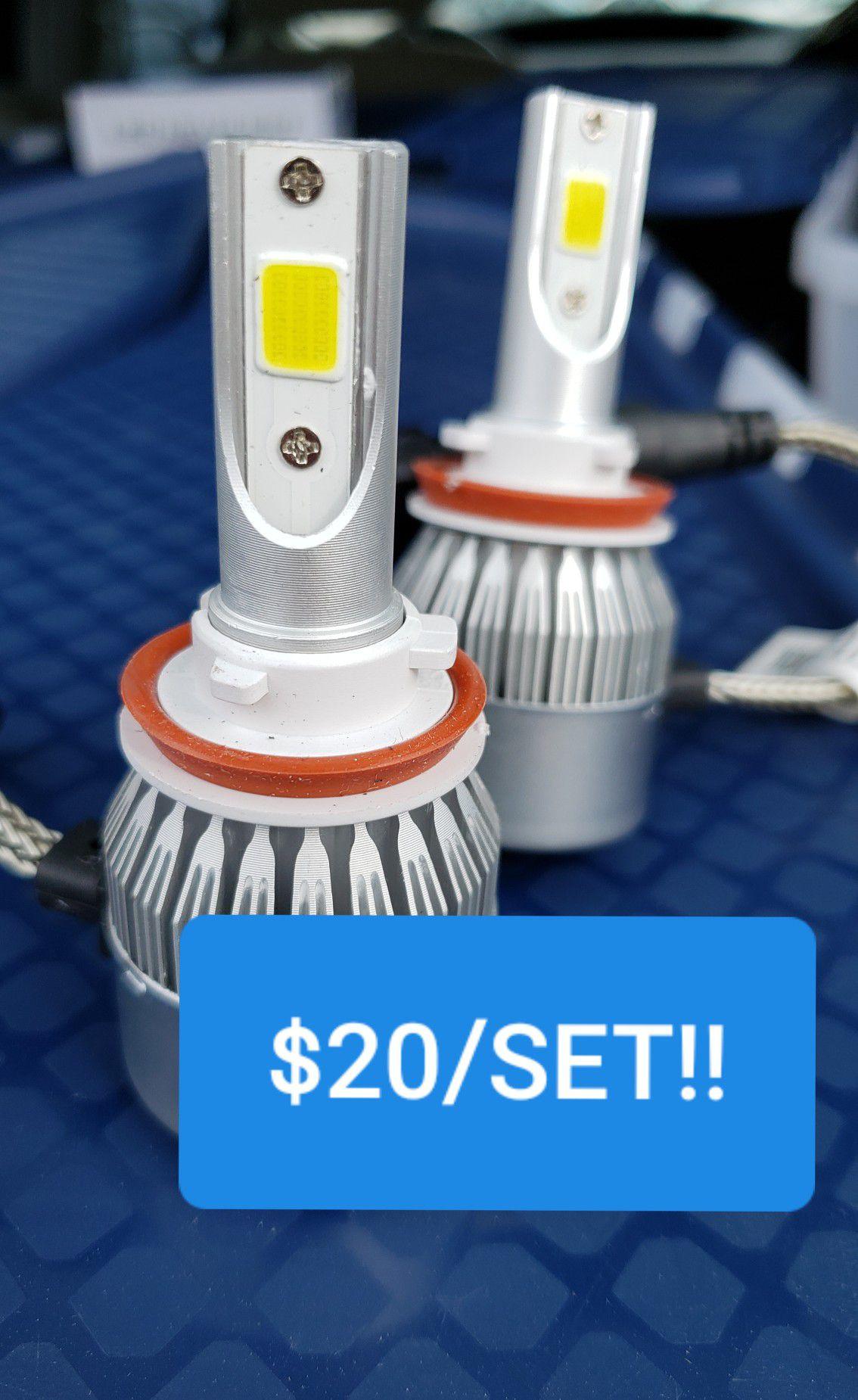 6000k LED headlights Bulbs Upgrade $20 All Cars, trucks and suv