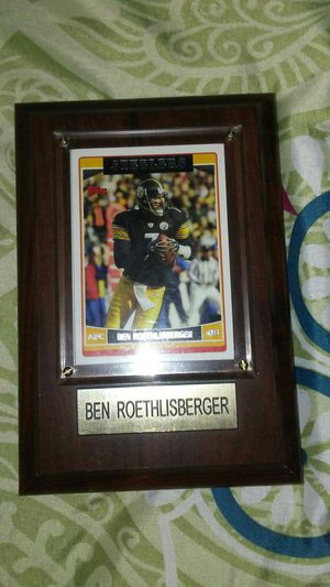 Ben Roethlisberger AFC card. In glass for Sale in Pittsburgh, PA