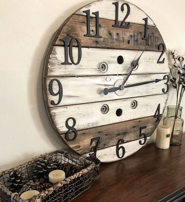 Custom Farmhouse Clock For Sale In Greeley Co Offerup