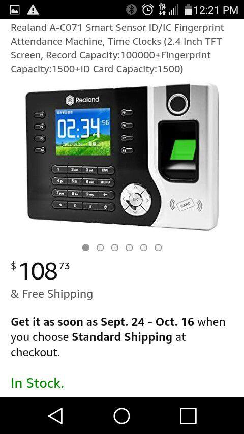 FINGERPRINT TIME ATTENDANCE MACHINE for Sale in Downey, CA - OfferUp