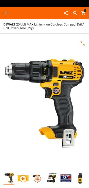 Photo DEWALT 20-Volt MAX Lithium-Ion Cordless Compact Drill/Drill Driver (Tool-Only)