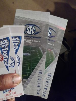 SEC CHAMPIONSHIP Tickets and Fan Fare passes for Sale in Atlanta, GA