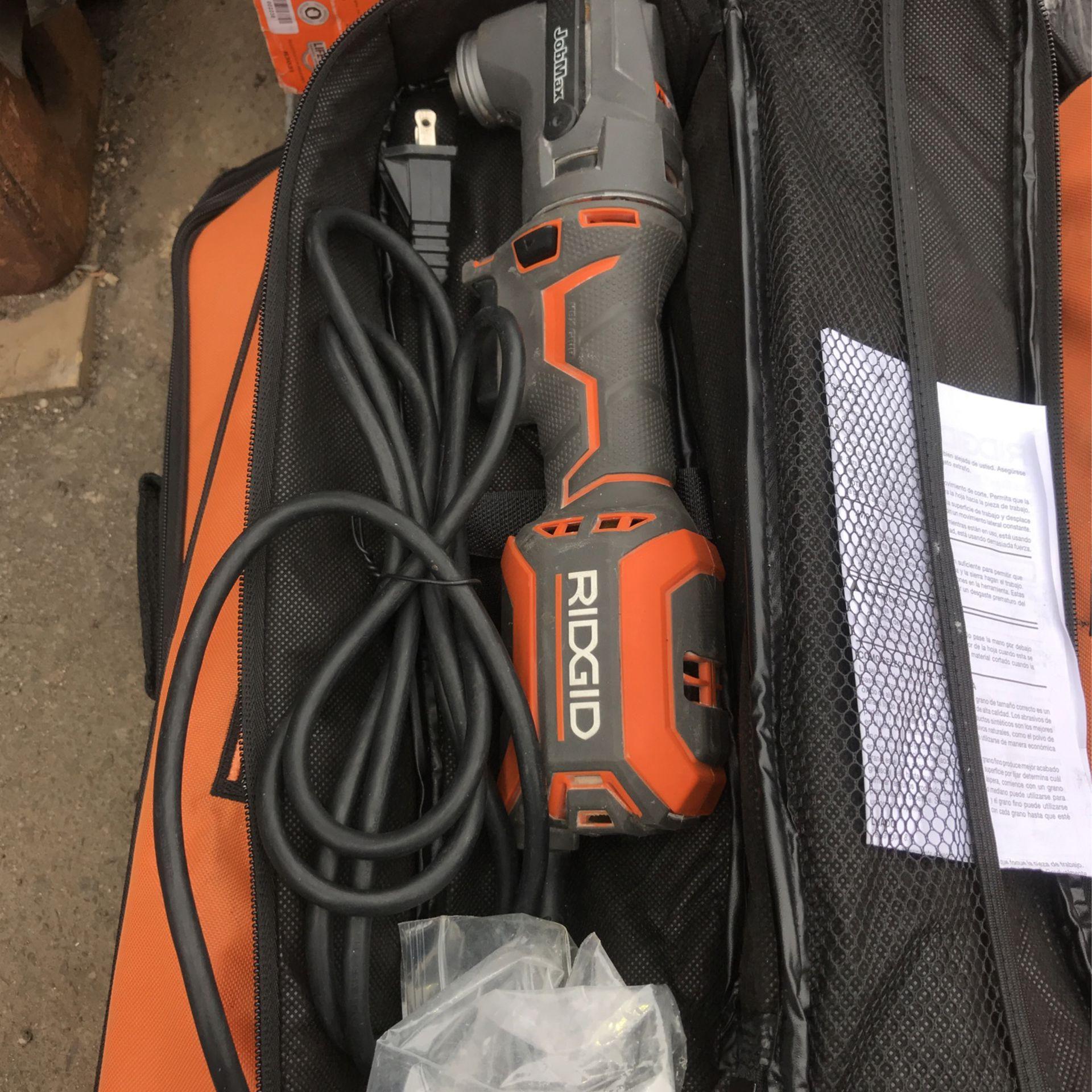 RIDGID 4 Amp Corded JobMax Multi-Tool with Tool-Free Head