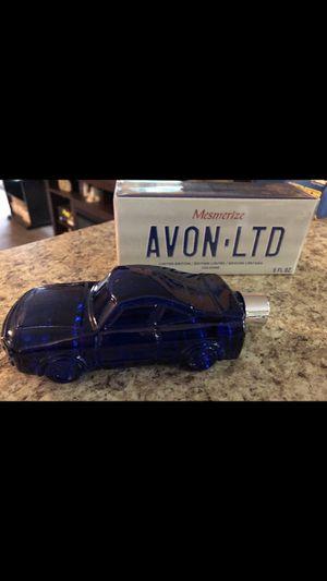 Photo Avon mesmerize sports car cologne bottle new