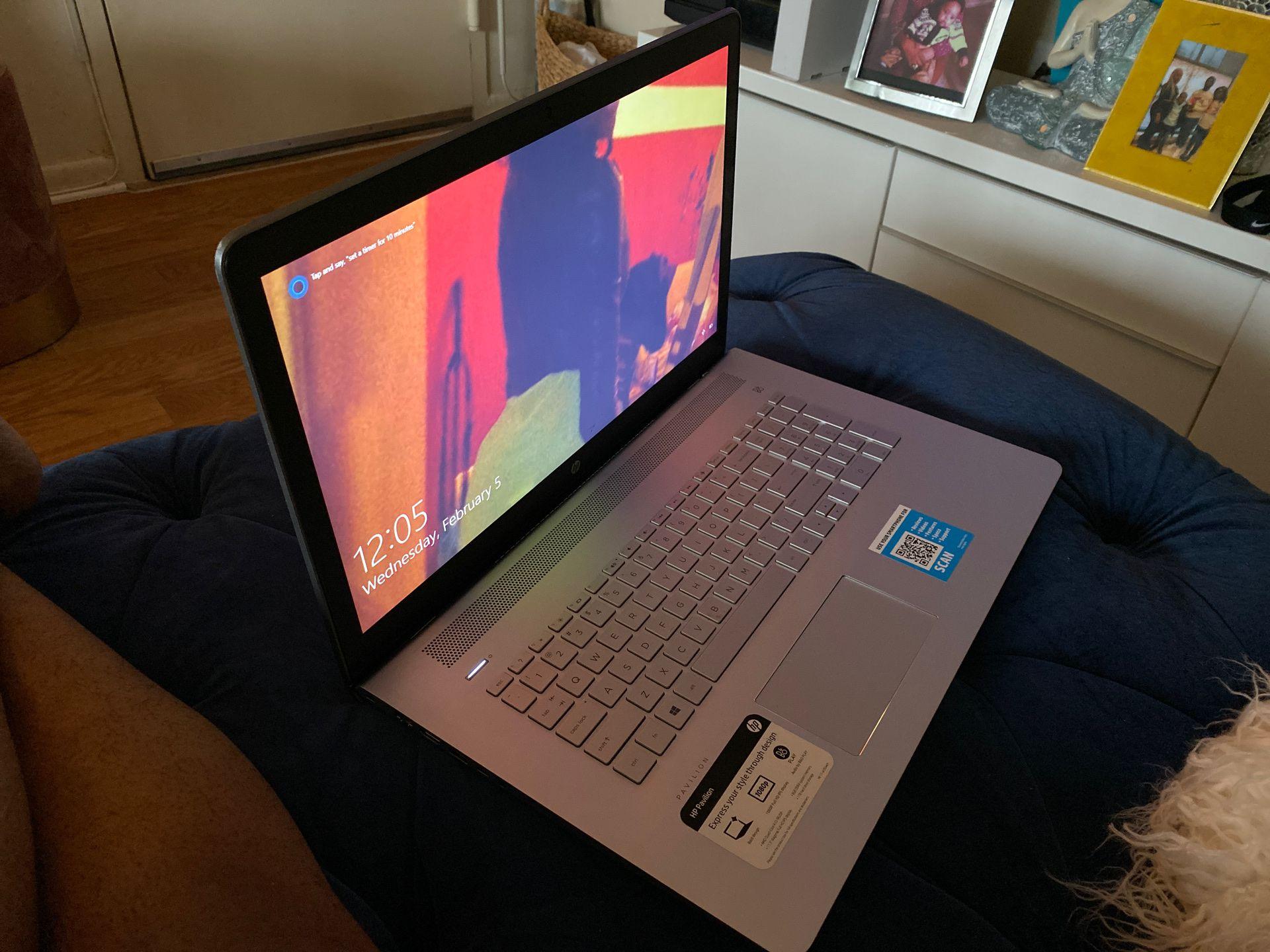 "HP laptop 17.3"" HD DISPLAY Model 17-ar050wm"