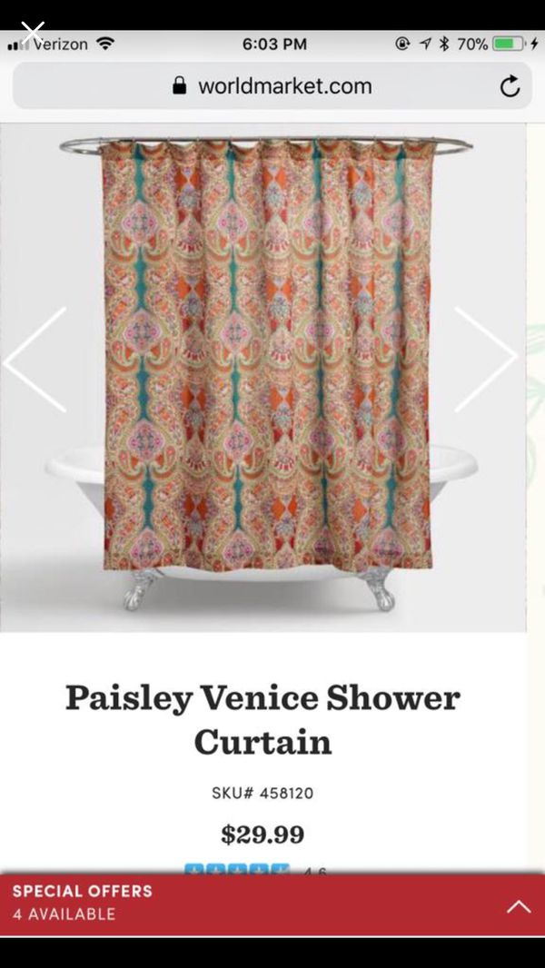 World Market Shower Curtain Household In Spring Hill TN