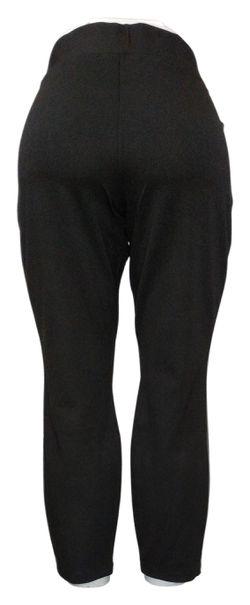 H by Halston Women's Leggings Sz 16P Petite Ponte w/ Faux Leather Black A311511 Thumbnail